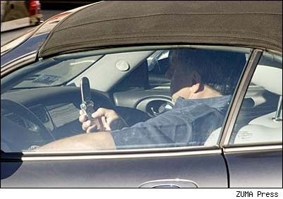 Texting while driving is dangerous.