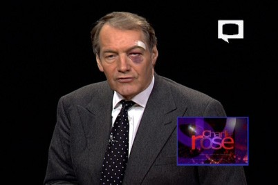 Charlie Rose Sacrifices Face for MacBook Air, Literally