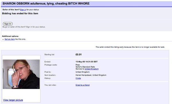 Man Tries to Ditch Cheating Wife on eBay