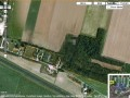 Reims Airforce Base in France has a single pixelated building.