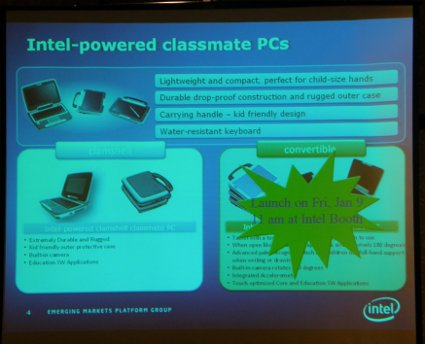 Intel To Announce New Classmate Tablet