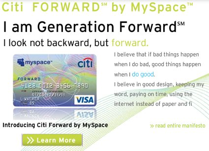 MySpace Offering Credit Card. No, Seriously. Stop Laughing.