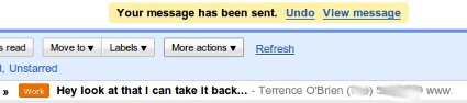 Gmail Lets You Un-Send Regrettable E-Mails