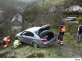 In March of 2009, a determined driver in West Yorkshire, England followed his BMW's GPS down a footpath to the edge of a cliff -- only stopping when he hit the fence guarding the edge. Not surprising, he was charged with 