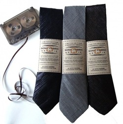Playable Neckties Made from Recycled Cassettes