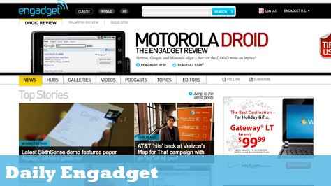 The Daily Engadget: Engadget Gets a Redesign, AT&T Fights Back Against Verizon