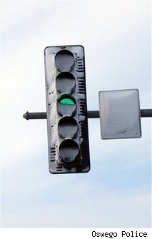 LED Traffic Lights Save Energy, Hide Under Snow