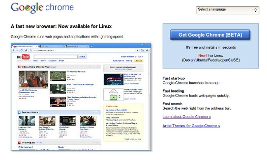 Linux and Macs Get Chrome, Chrome Gets Extensions