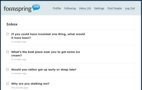 Anonymously Ask Questions at Formspring.Me
