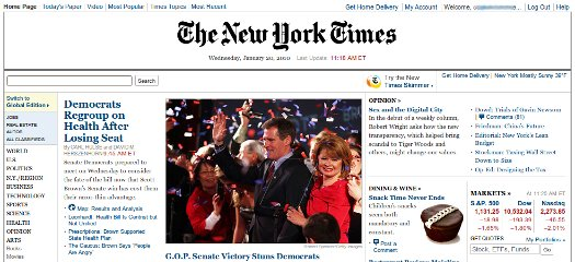 NYTimes.com to Start Charging for Content in 2011