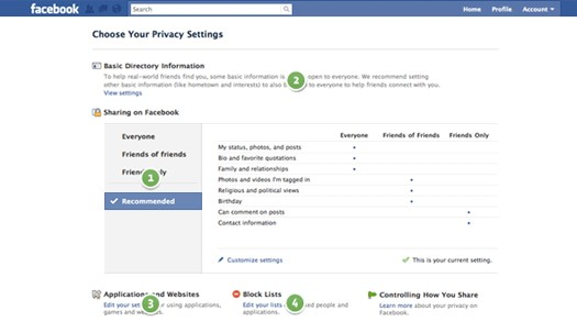 New Facebook Controls Revealed