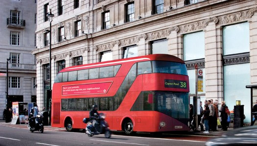 london's new double-decker bus
