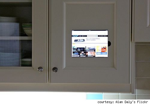 iPad Embedded in Cabinet