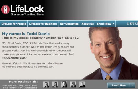 lifelock ceo's social security number