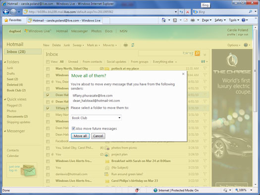 Hotmail redesign