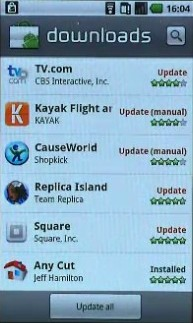 Update All in Android Market