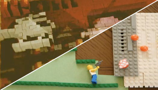 stop-motion 8-bit video game videos