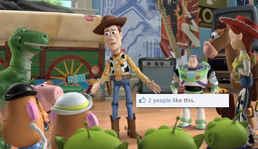 Toy Story 3 Goes to facebook