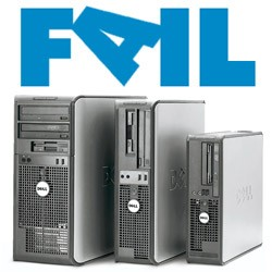dell computers with fail logo