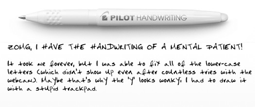 sample handwriting from pilothandwriting.com