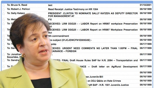 elena kagan and her emails