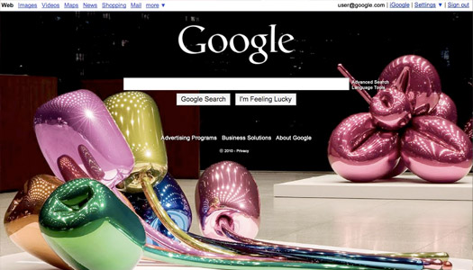 personalized google homepage