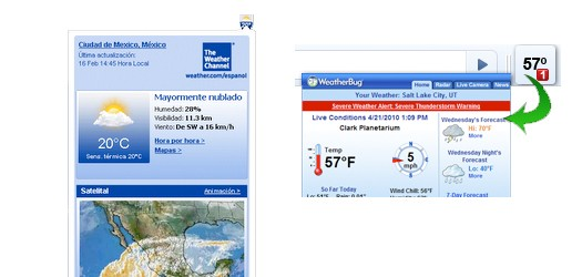 Weather Channel and Weatherbug Extensions
