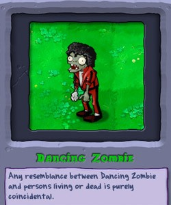 dancing zombie from 'plants vs. zombies'