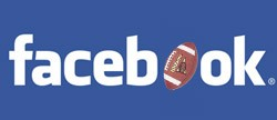 facebook logo with football