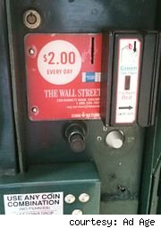 Newspaper Credit Card Reader
