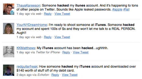 Reports of Hacked iTunes Accounts
