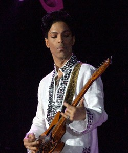 prince playing guitar