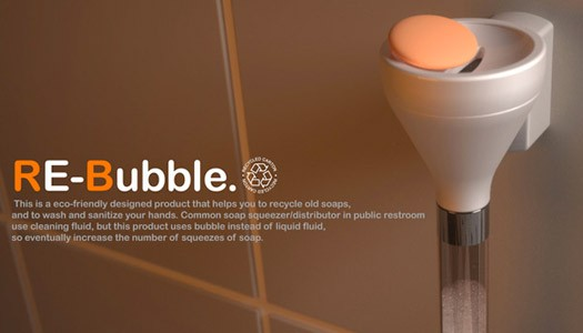 Re-Bubble Soap Dispenser by Woo Jae Lee, Min Su Kim and Woong Ki Kim