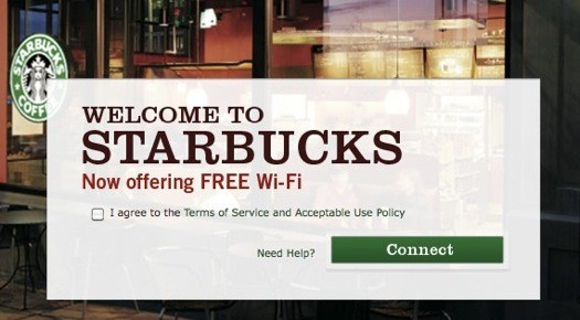 Free Starbucks Wi-Fi