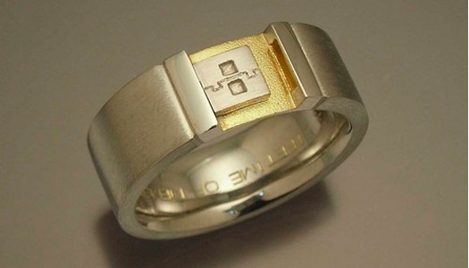 usb key wedding ring