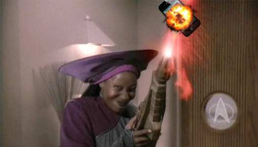 whoopi goldeberg as guinan murdering iphone 4