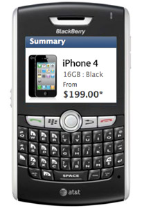 buying an iphone on a blackberry
