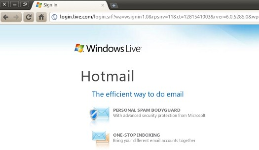 Chrome and Hotmail