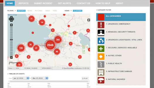 screenshot of crowdmap