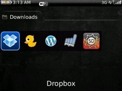 Dropbox for BlackBerry