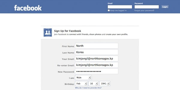 north korea on facebook