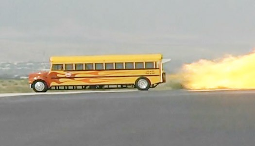 paul stender's 'School Time Jet-Powered School Bus'