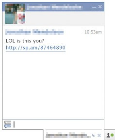 intrepreted lol spam on facebook