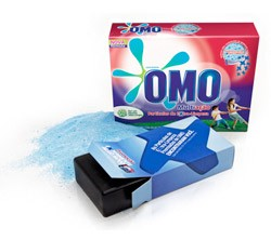 omo detergent with gps device