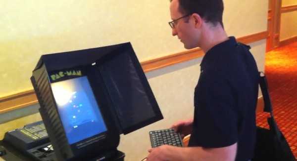 Pac-Man Running on a Voting Machine