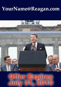ad for reagan.com email address