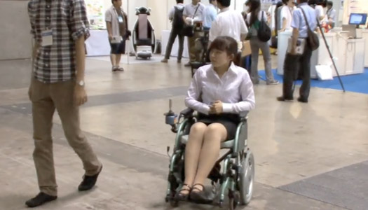 screenshot of robotic wheelchair