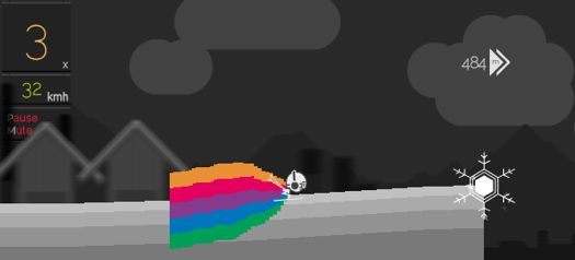 'Solipskier' flash game