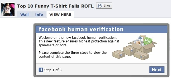 Facebook Clickjacking Scam
