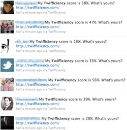 screenshot of twifficiency updates